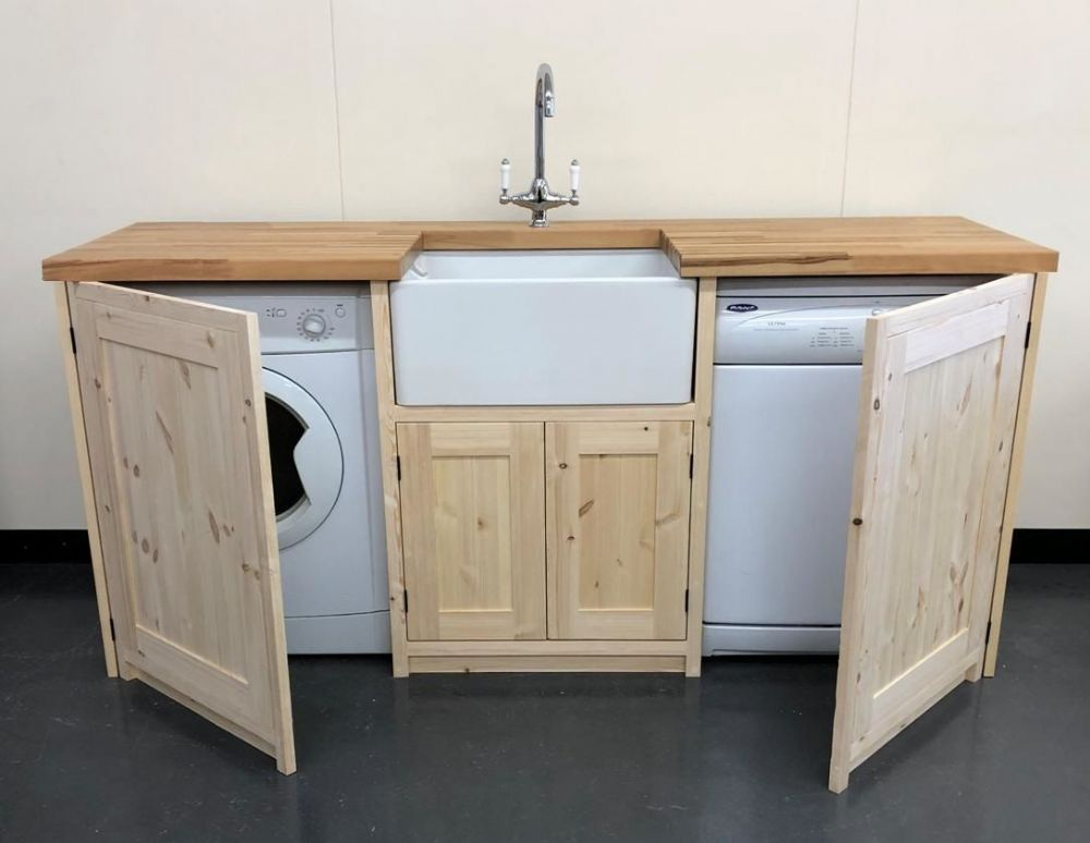 Pine Traditional Style Belfast Utility Unit with doors